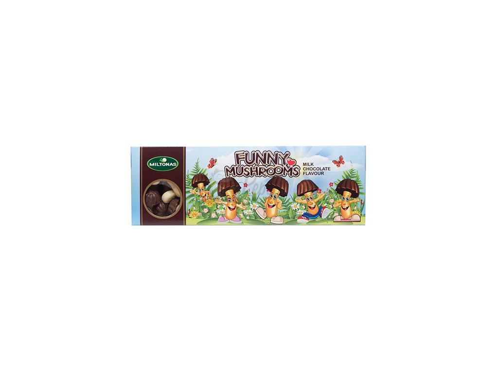 Miltonas Funny Mushrooms Mini Biscuits Sušenky 170g LTV