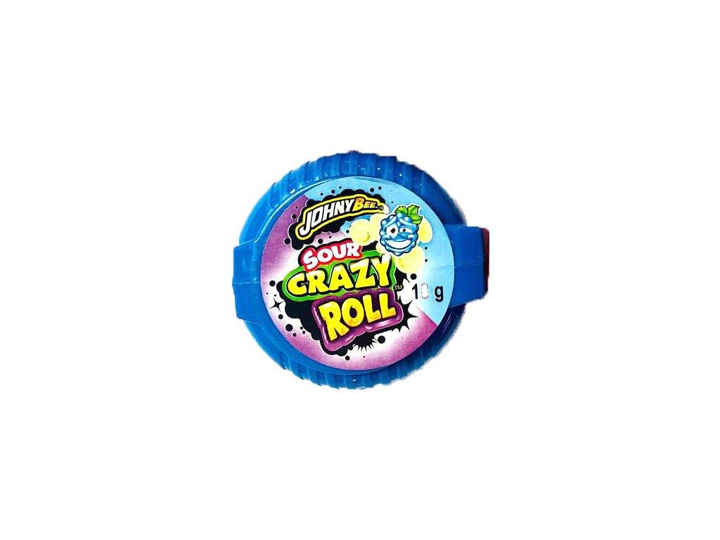 Johny Bee Crazy Roll Bubble Gum Kyselá Ostružina 18g POL