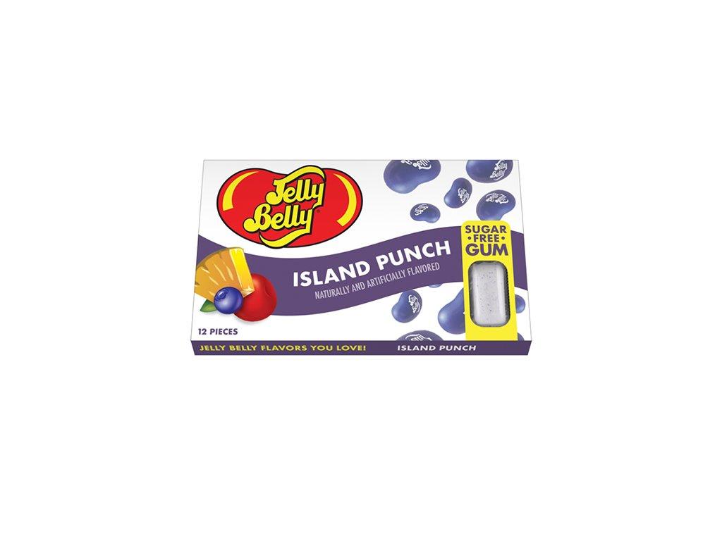 Jelly Belly Island Punch Sugar Free Gum 17g USA