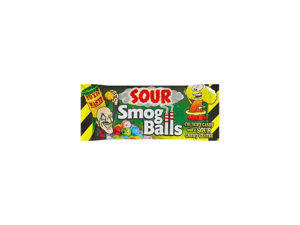 Toxic Waste Sour Smog Balls Crunchy Candy 48g UK