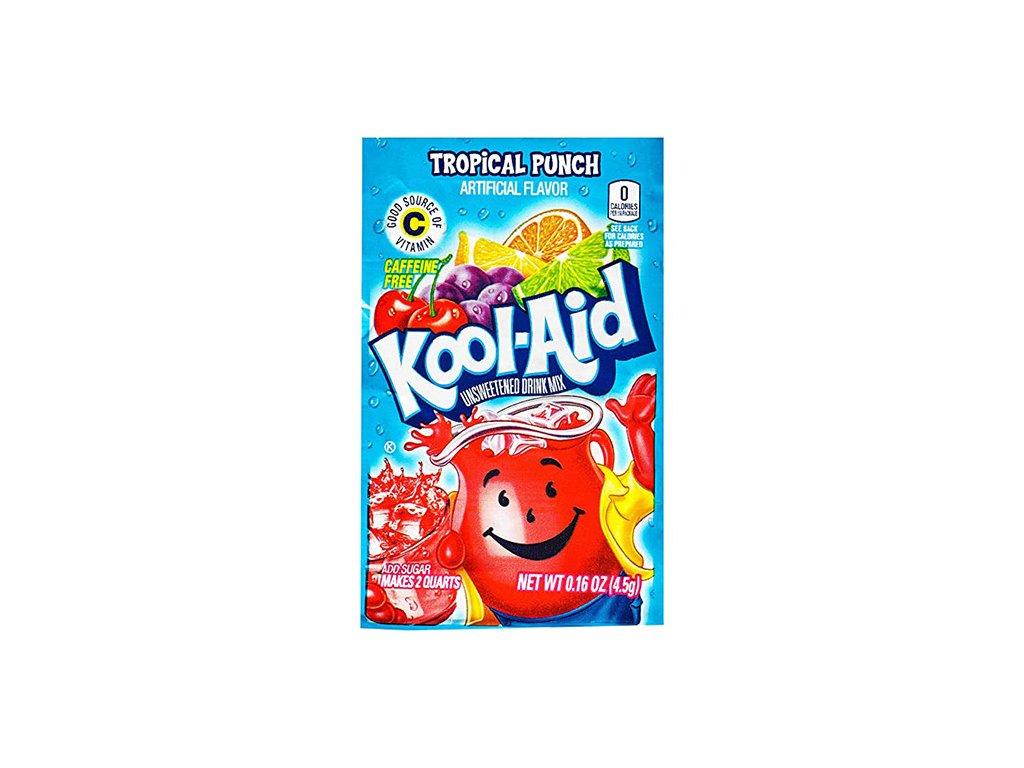 Kool Aid Instantní Ovocný Nápoj Tropical Punch 1ks 4,5g USA