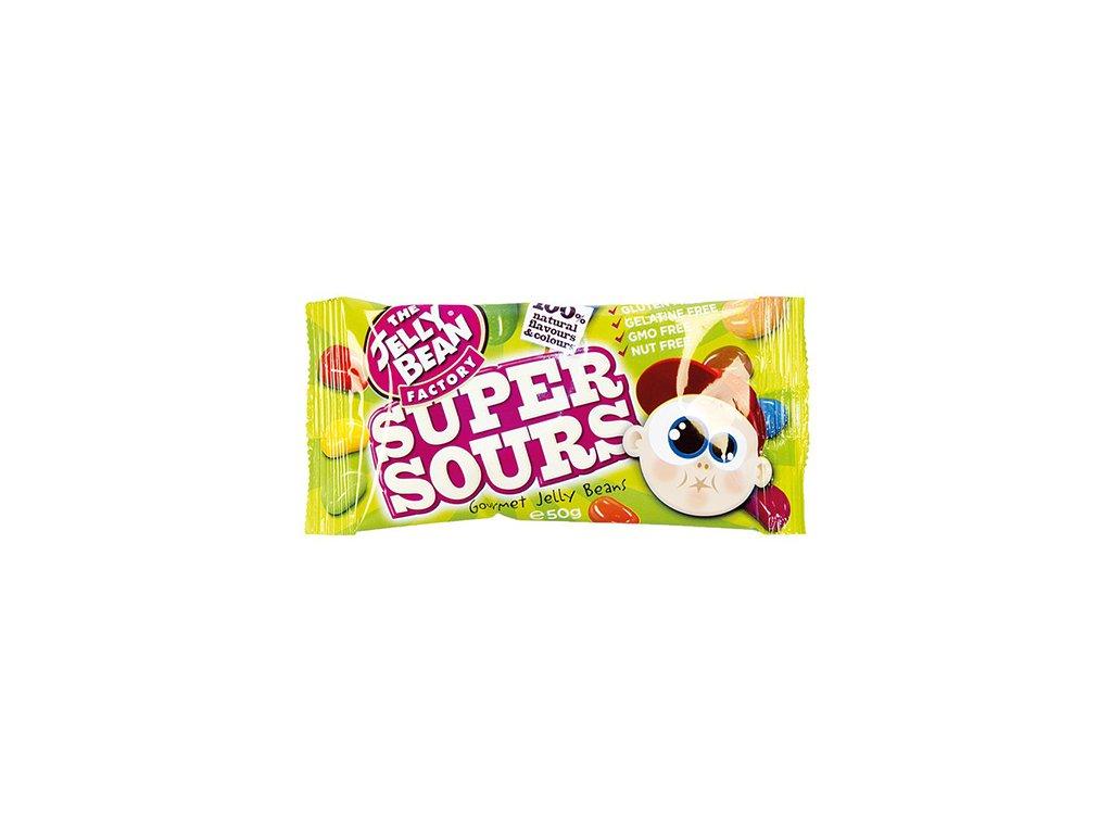 The Jelly Bean Factory Super Sours Bonbóny 50g IRL