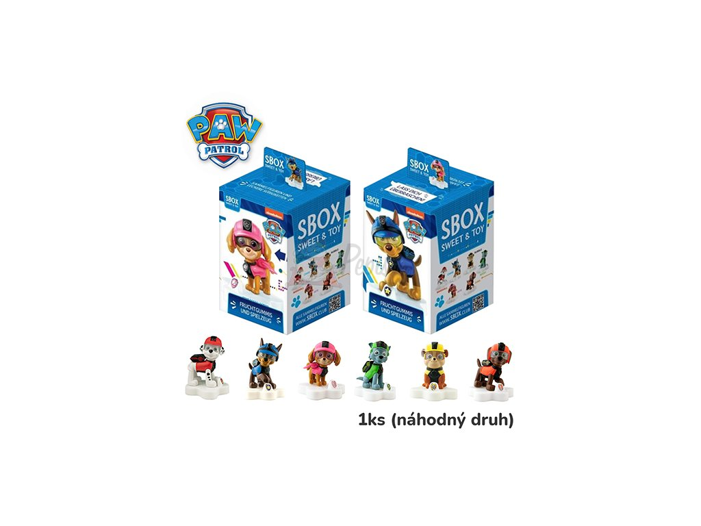 Sweet Box Paw Patrol Želé Bonbony S Hračkou 10g CHN 3