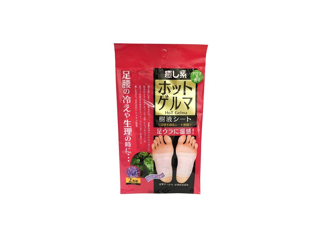 HADA RiKi Hot Gelma Foot Pad Healer Hojivé Náplasti Na Chodidla Levandule 1 pár JAP