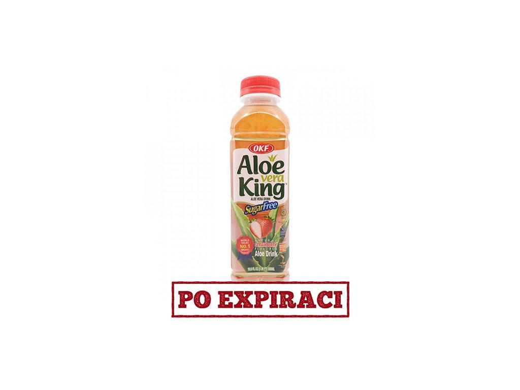 OKF Nápoj Aloe Vera Jahoda Bez Cukru 500ml KOR