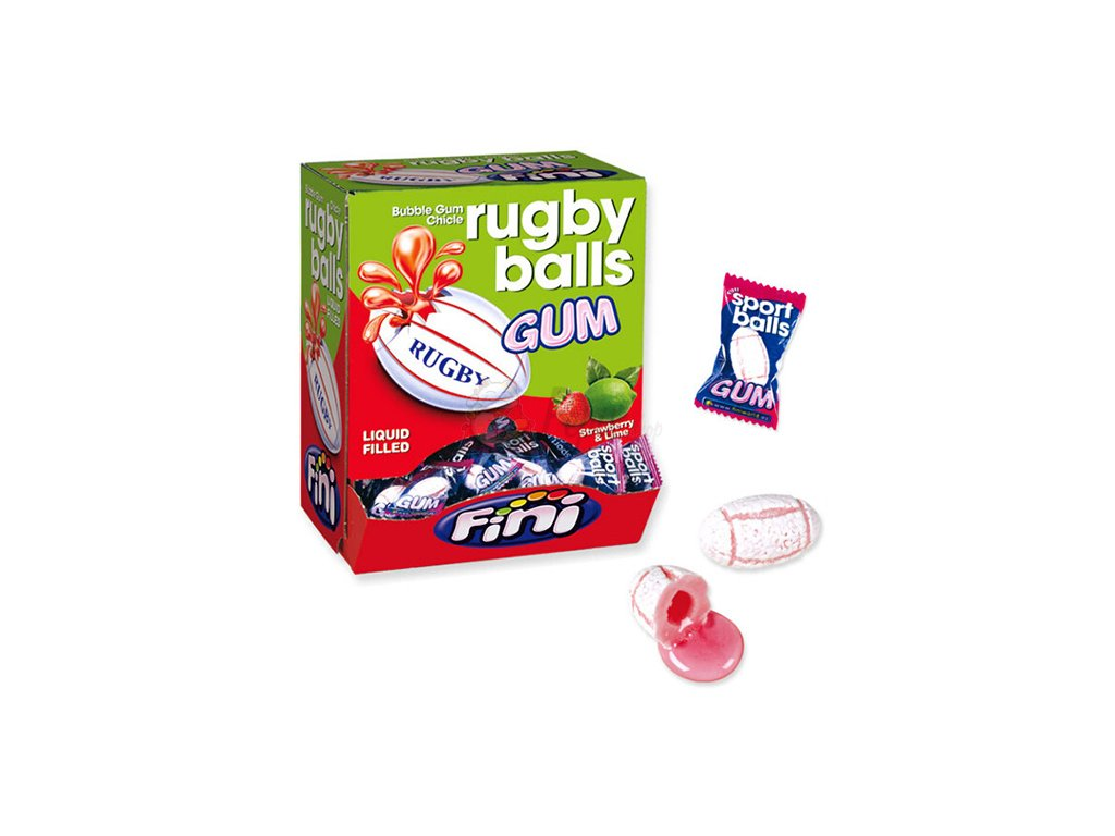 Fini Rugby Ball Žvýkačka 1ks 5g ESP