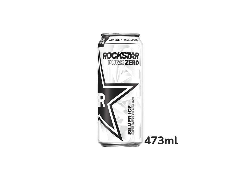 vyr 2461 Rockstar Pure Zero Silver Ice 473ml