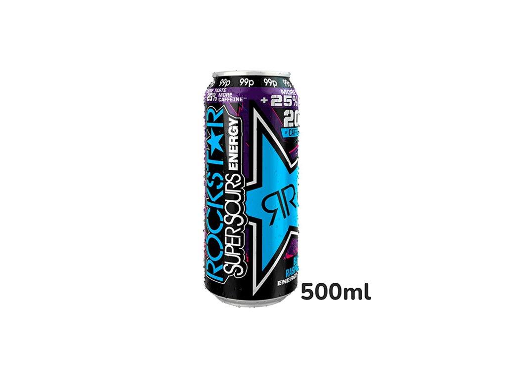 Rockstar SuperSours Energy Drink Blue Raspberry 500ml EU