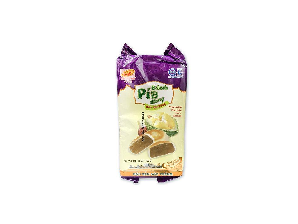 Bánh Pia Vegetariánské Koláčky Taro Durian 400g (4x100g) VNM