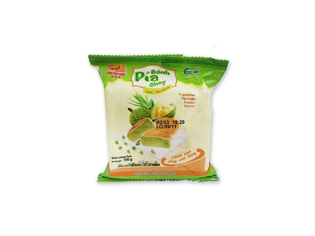 Bánh Pia Vegetariánský Koláček Pandan Durian 1ks 100g VNM