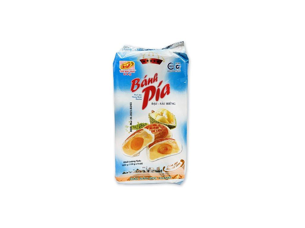 Bánh Pia Koláčky Mung Bean Durian s Vajíčkem Balení 600g (4x150g) VNM