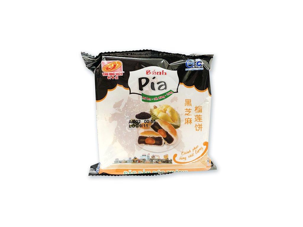Bánh Pia Koláček Černý Sezam Durian s Vajíčkem 1ks 135g VNM
