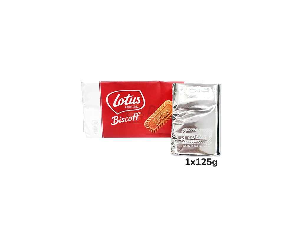 Lotus Biscoff Karamelizované Sušenky 1ks 125g BEL