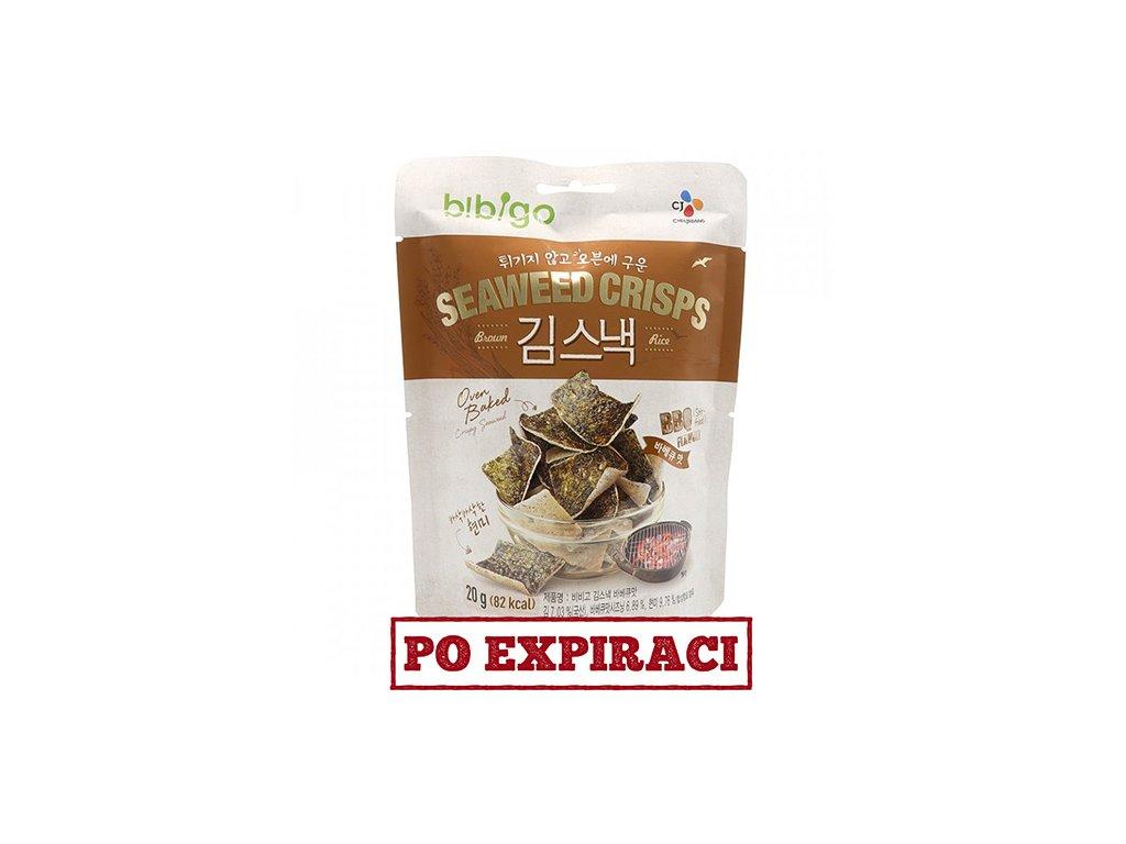 Bibigo Rýžové Krekry Mořské Řasy BBQ 20g KOR