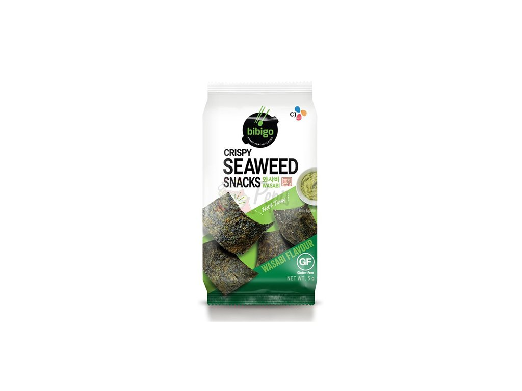Bibigo Křupavé mořské řasy s wasabi 5g KOR