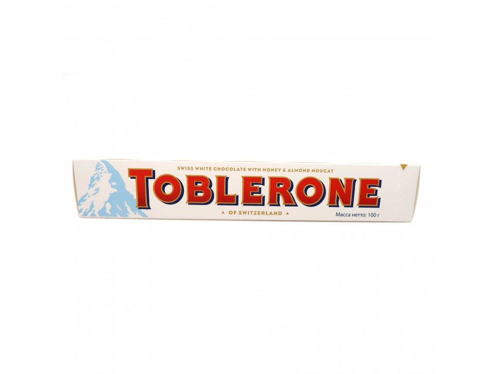 Toblerone Švýcarská bílá čokoláda s medem a mandlovým nugátem - PEPIS.SHOP