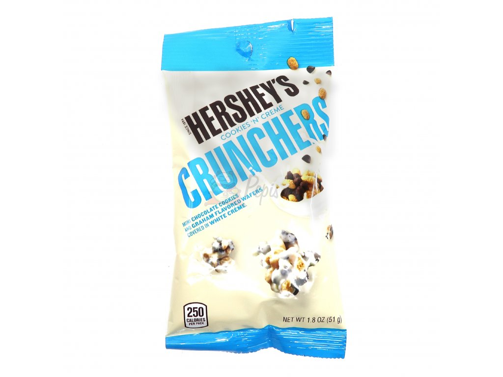 Hershey's Crunchers s bílou polevou a sušenkami - PEPIS.SHOP