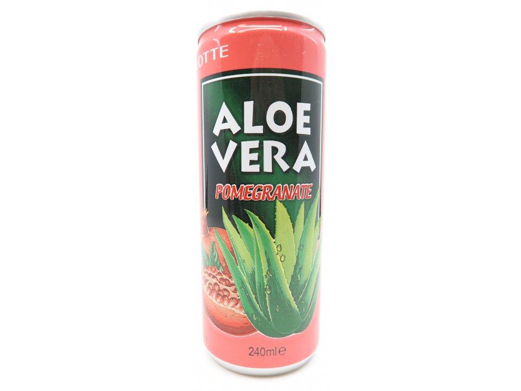 Lotte Aloe Vera Granátové Jablko 240ml KOR