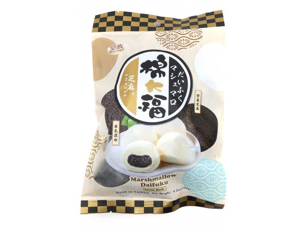 Royal Family Mochi Marshmallow Rýžové Koláčky Sezamové 120g TW
