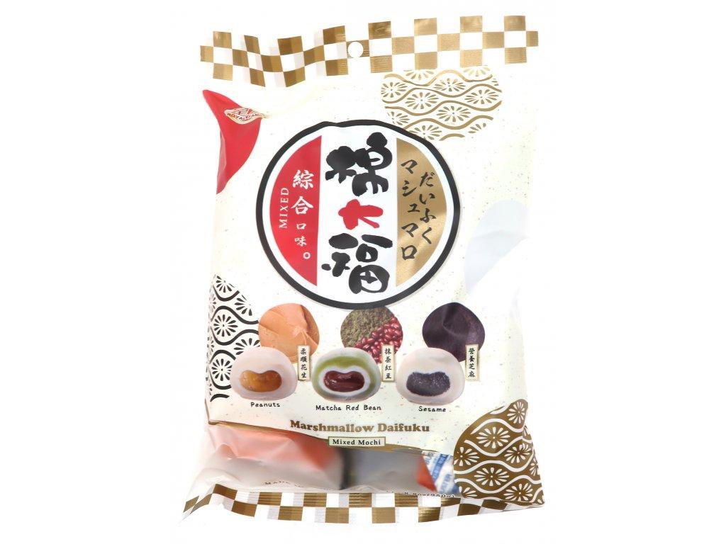 Mochi Marshmallow Rýžové Koláčky Mix Sezam Matcha Červená Fazole Arašídy 250g TWN