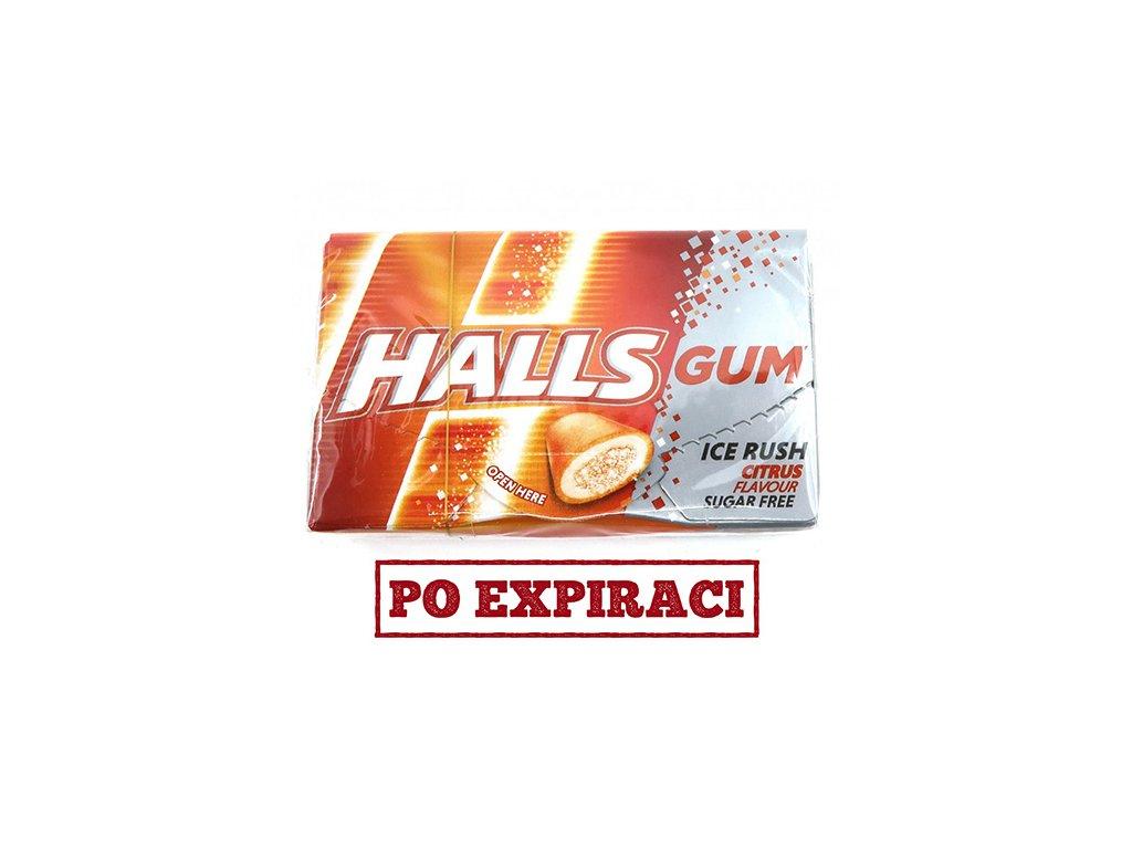 HALLS GUM ice rush citrus 18g SVN