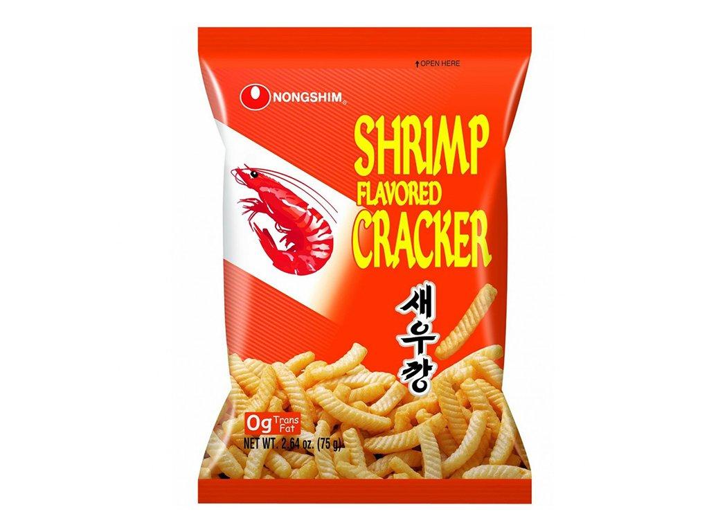Nong Shim Snacks Shrimp Flavored Cracker Original Shrimp Crackers