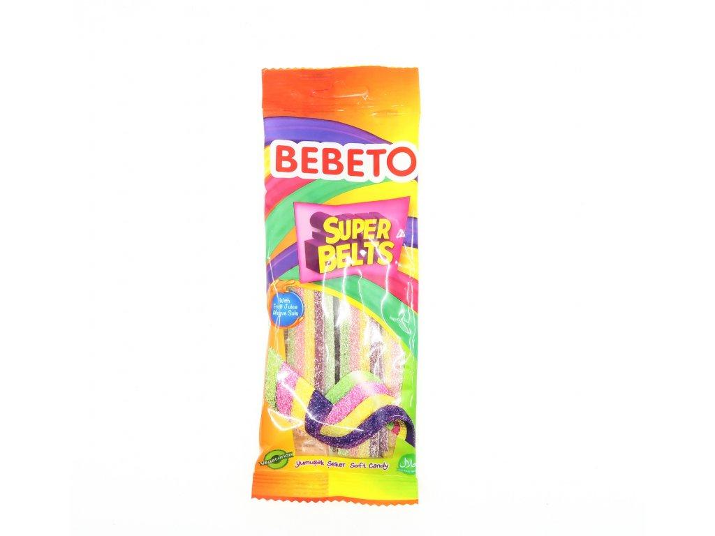 Bebeto Super Belts Kyselé Pásky 75g TUR