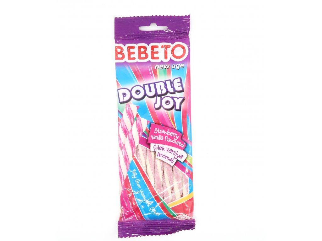 Bebeto Double Joy Pendreky Jahoda Vanilka 75g TUR