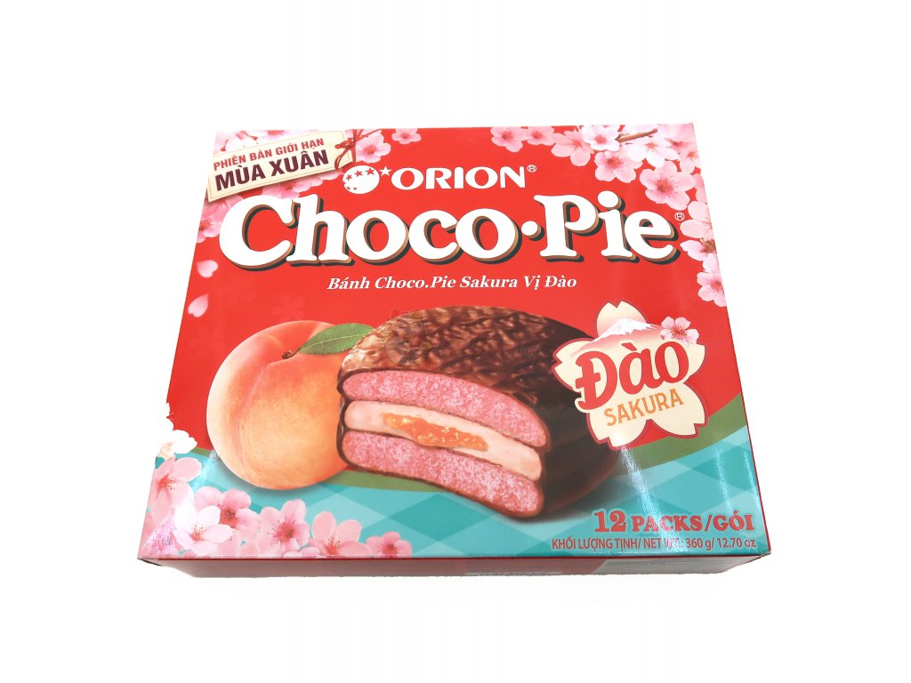 Choco Pie Marshmallow Sakura Balení (12x30g) 360g VNM
