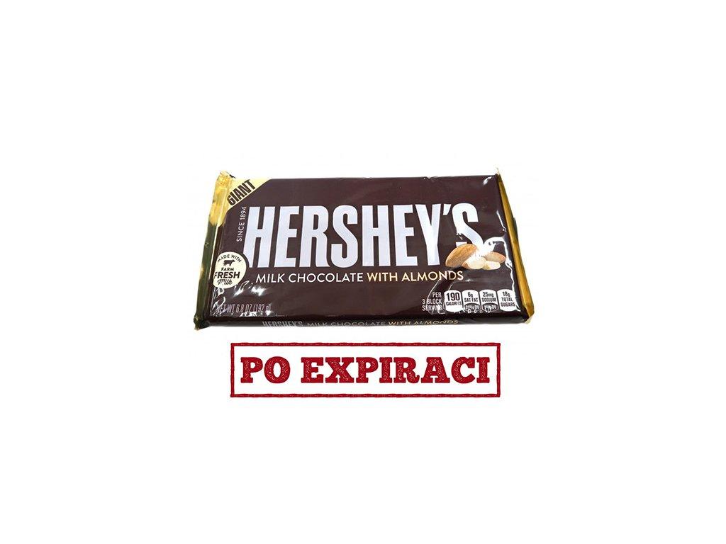 Hersheys Milk Chocolate With Almonds 192g USA