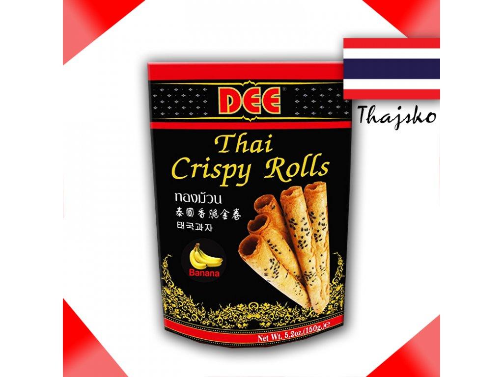 DEE Banán - Thajské Křupavé Rolky 150g - PEPIS.SHOP