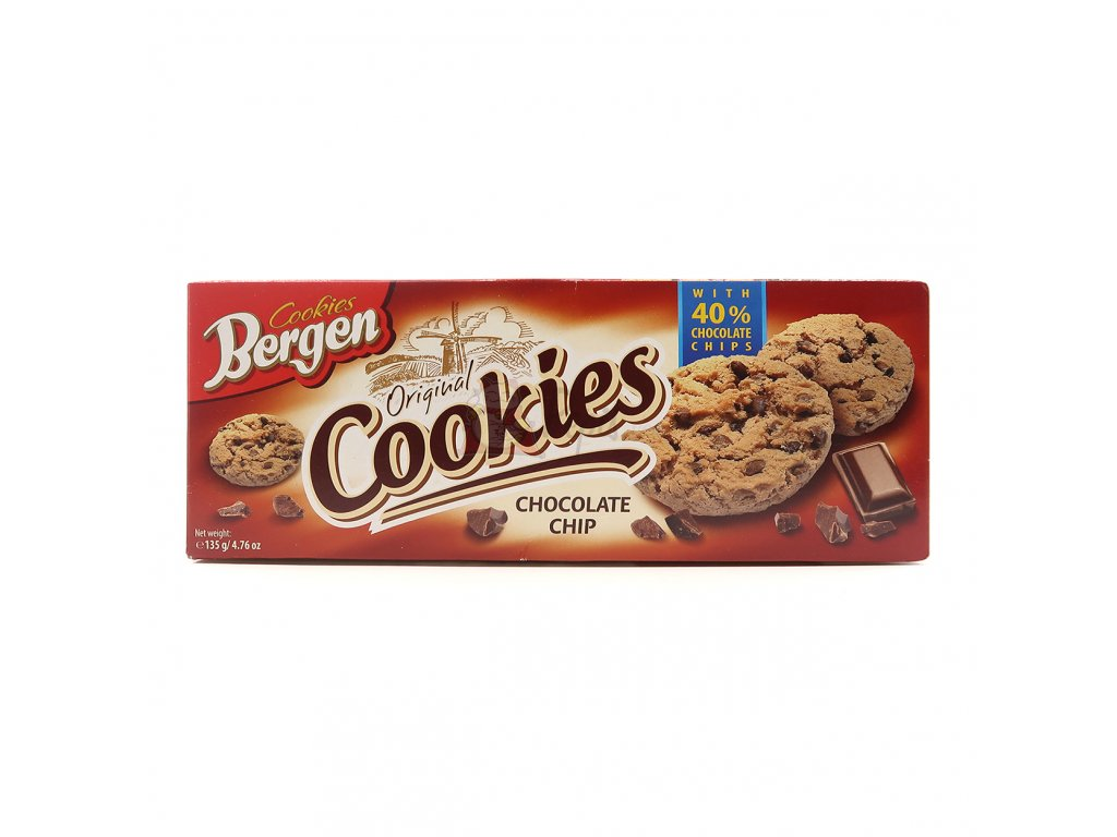 Bergen Cookies Chocolate Chip 135g PL