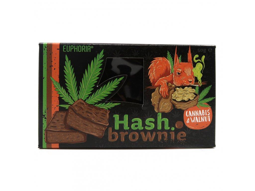 Euphoria Hash Brownie Cannabis Walnut 50g EU