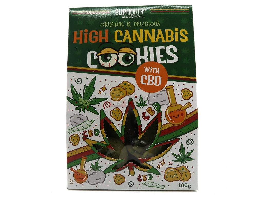 Euphoria High Cannabis Original Cookies With CBD 100g EU