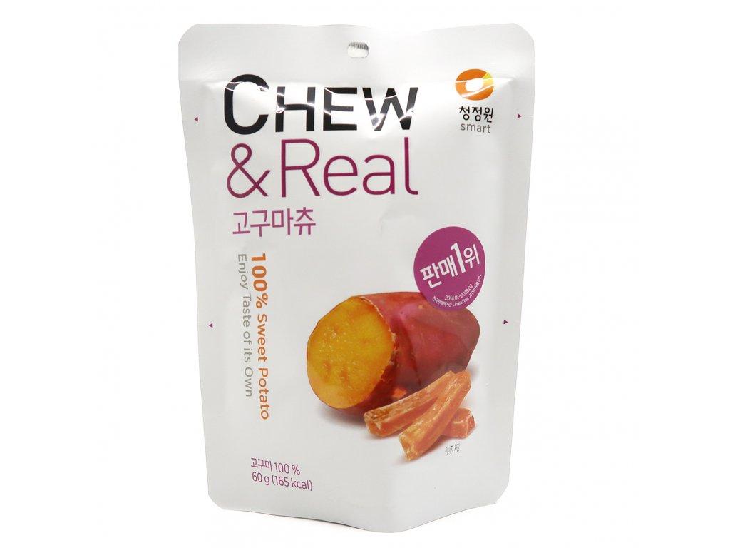 Chew & Real Sušená Sladká Brambora 60g KOR