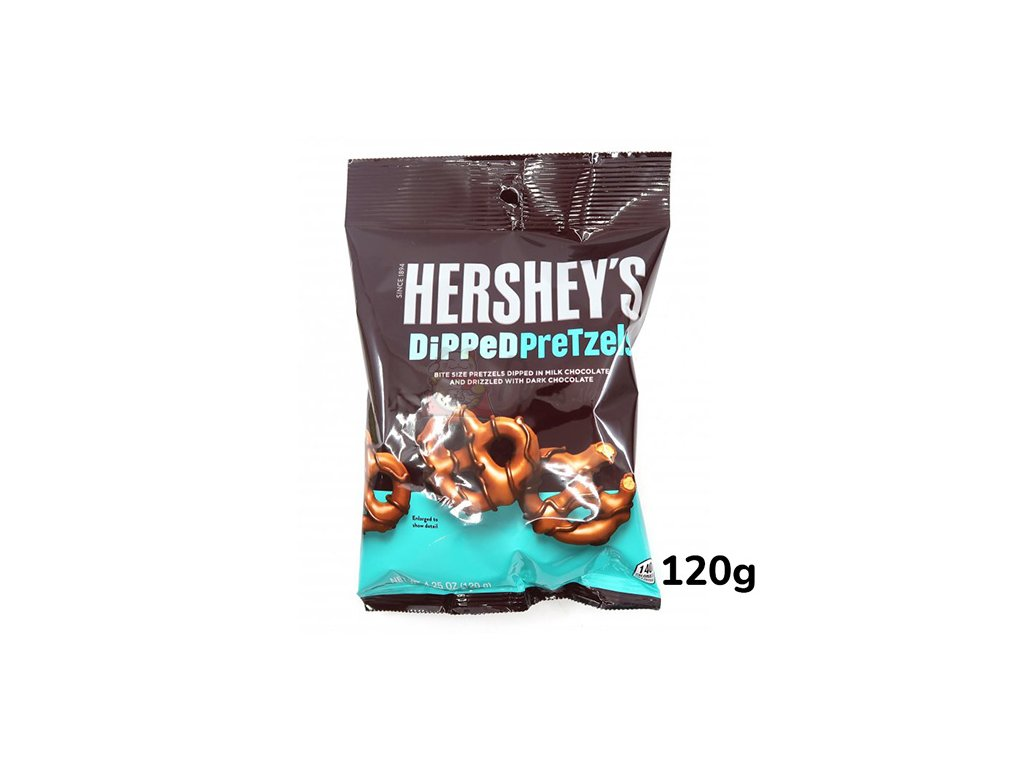 7418 hershey s chocolate dipped pretzels 120g usa