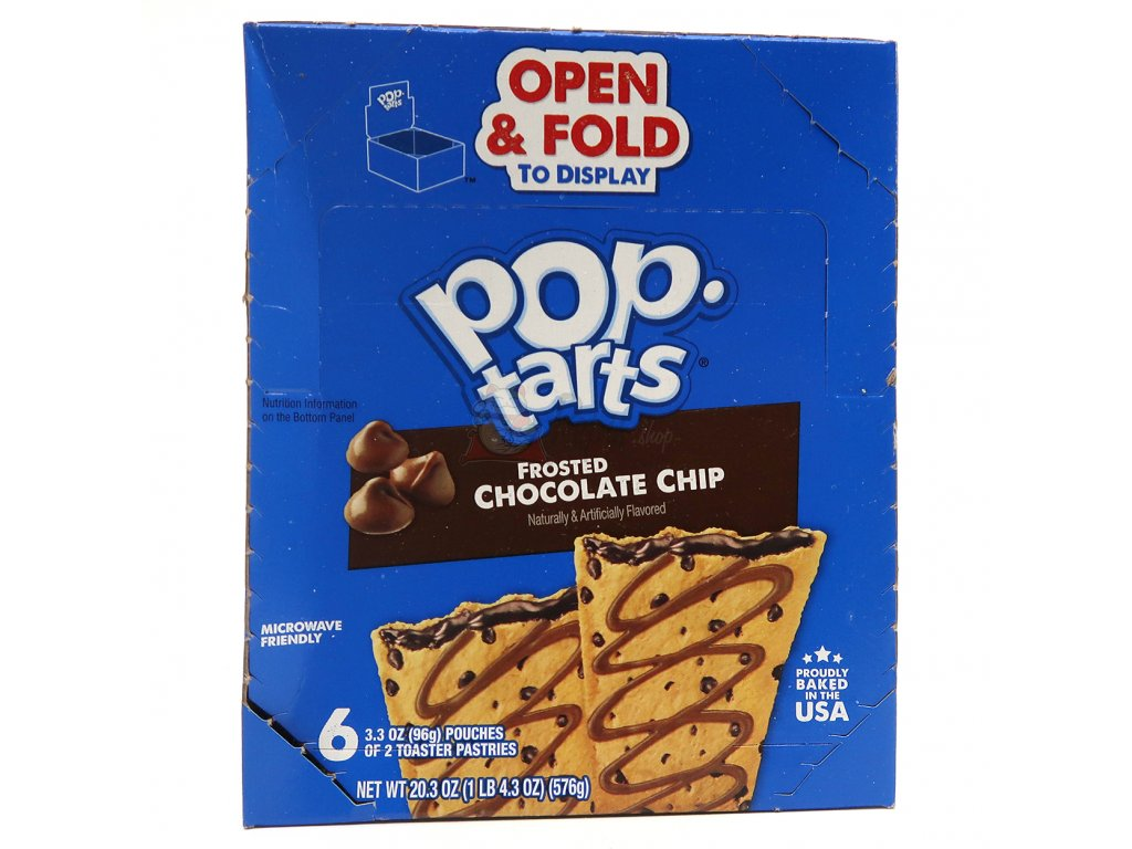 Pop Tarts Frosted Chocolate Chip Maxi Balení 576g USA