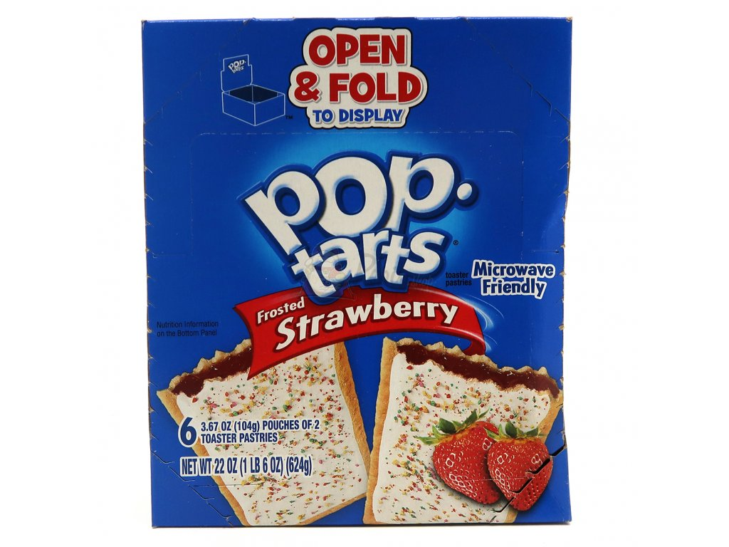 Pop Tarts Frosted Strawberry Maxi Balení 576g USA