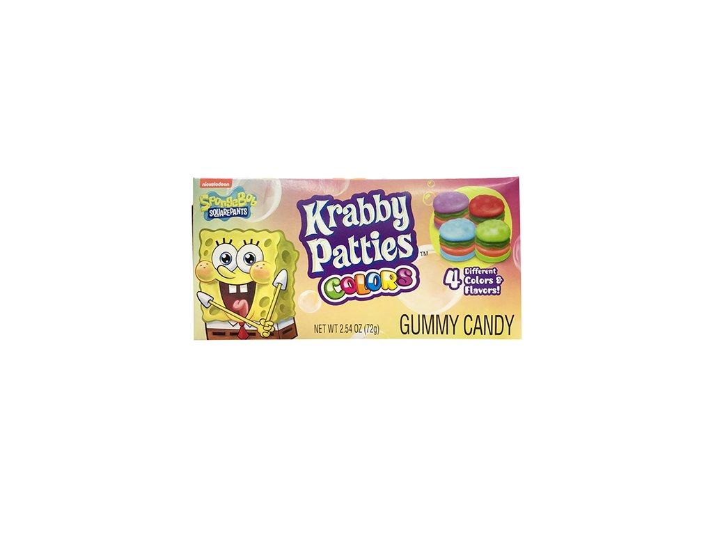 Nickelodeon Spongebob Squarepants Gummy Krabby Patties Colors Candy 72g USA