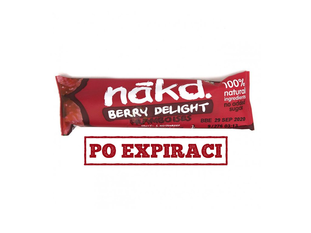 Nakd. Berry Delight Ovocno-Ořísková Raw s Kešu Ořechy a s Malinami 35g UK