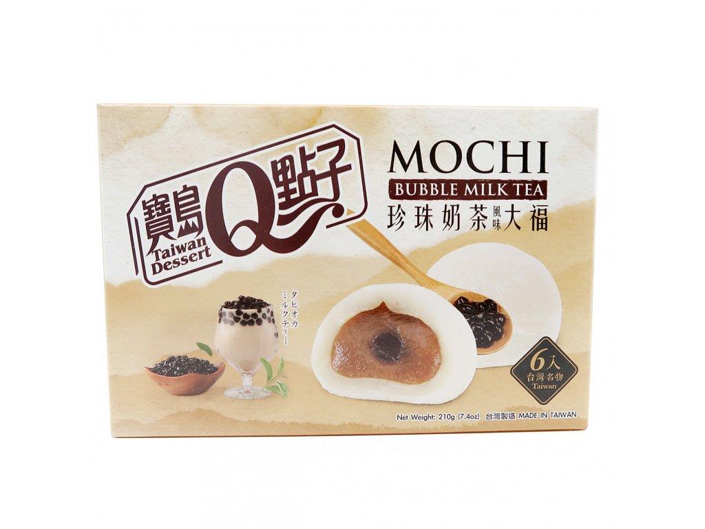 Q Brand Mochi Rýžové Koláčky He Fong Bubble Milk Tea 210g TW