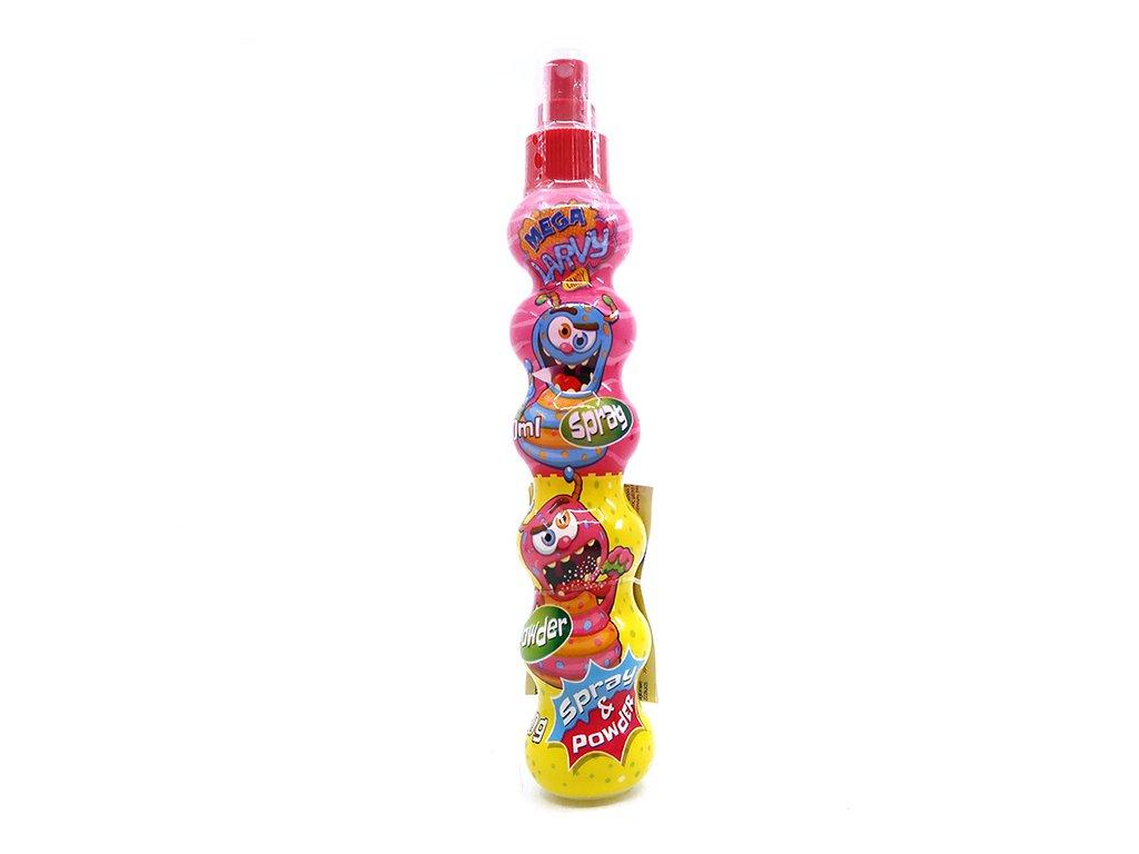 Spray Mega Larvy s Kyselým Jahodovým Práškem 30g EU
