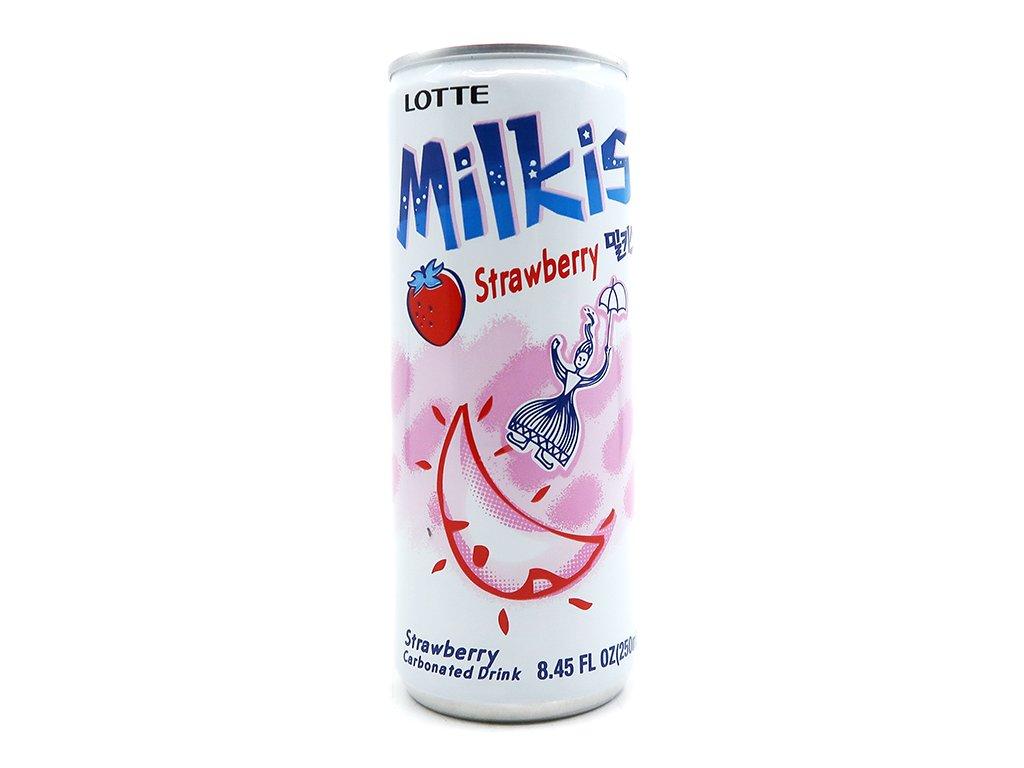 Lotte Milkis Mléčná Sodovka Jahoda 250ml KOR