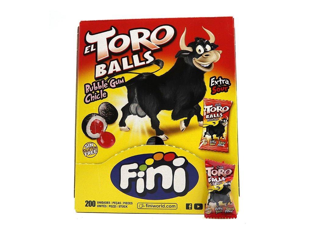 Fini Toro Balls Extra Sour Žvýkačka 1ks 5,5g ESP