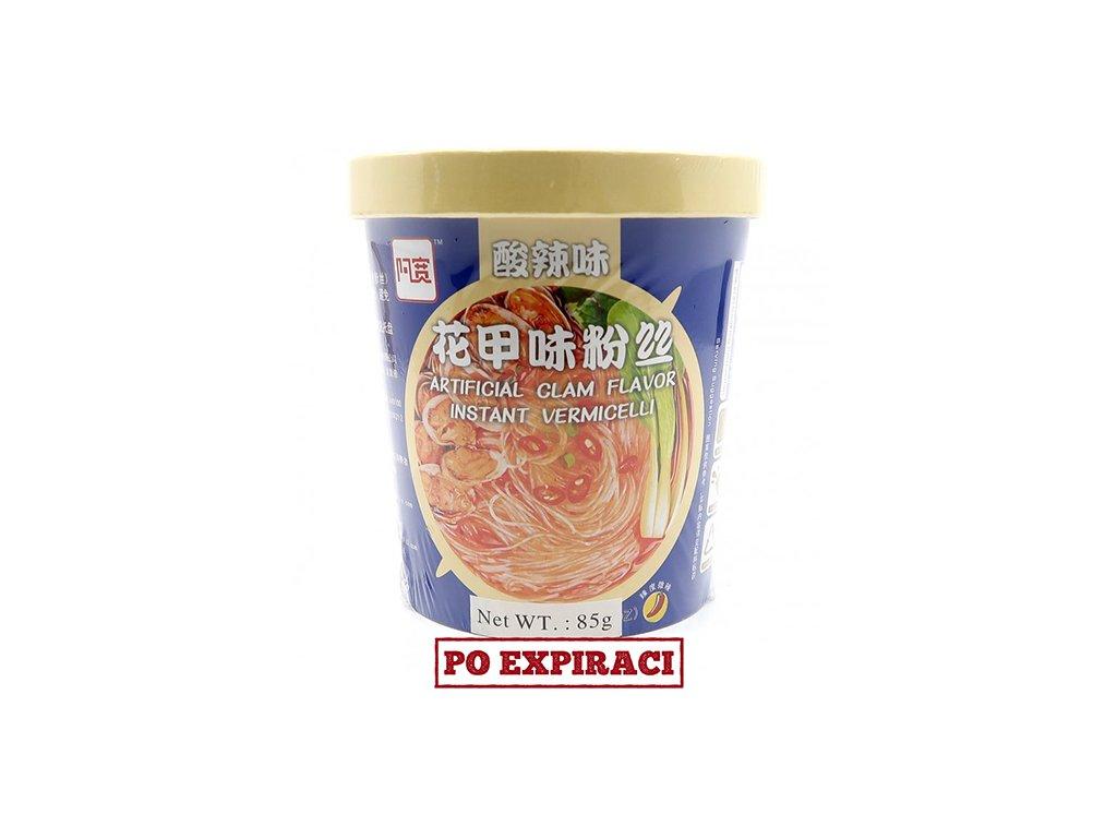 Instantní Skleněné Nudle Clam Flavor s Příchutí Škeble 85g v Misce CHN