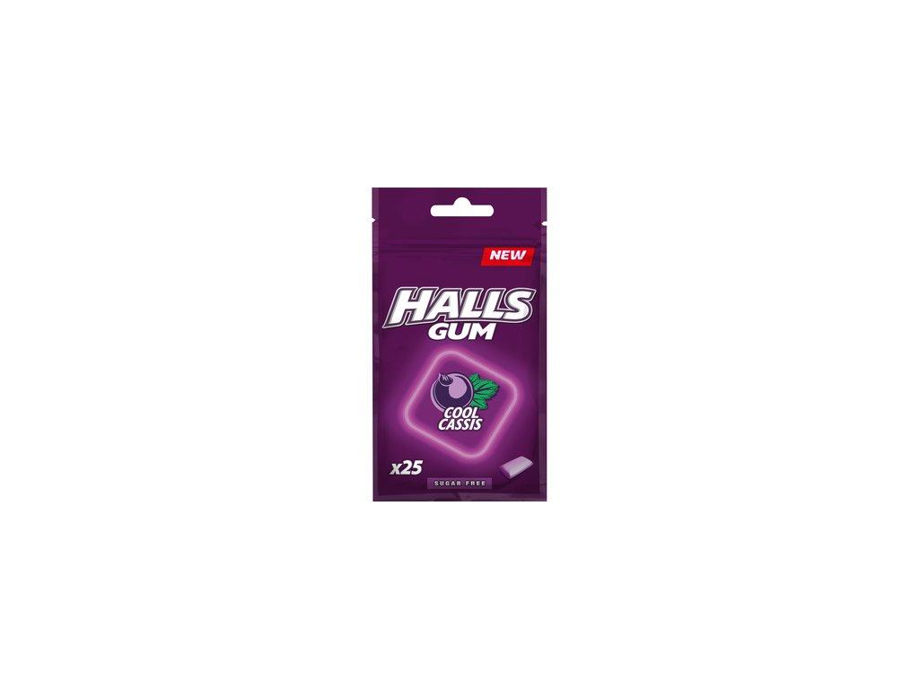 Halls Gum Cool Cassis Žvýkačky 36.5g HUN