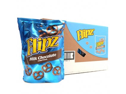 Flipz Milk Chocolate Pretzels Balení (6x90g) UK