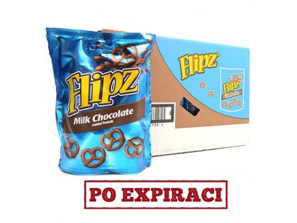 Flipz Milk Chocolate Pretzels Balení (6x90g) UK