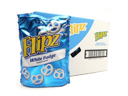 Flipz White Fudge Pretzels Balení (6x90g) UK