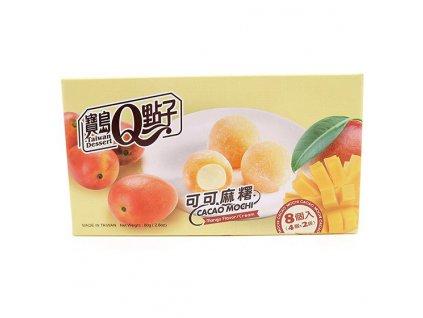 Q Brand Mochi Rýžové Koláčky Kakao Mango 80g TWN